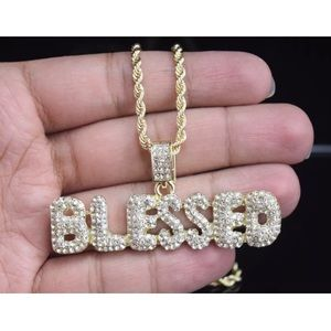 Other - ICED OUT MICROPave Blessed 14K Gold Chain Necklace